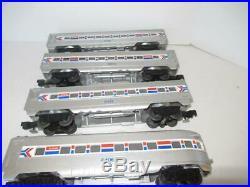 Lionel Four Car Amtrak Passenger Set Lighted No Boxes Exc. 0/027 P6