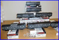Lionel New York Central Streamlined Passenger 7 Car Train Set Lighted O Gauge Ny
