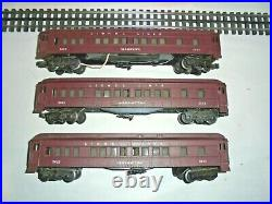 Lionel Passenger Car Set Vintage Postwar O Gauge 2625,2627,2628