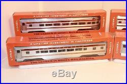 Lionel Postwar Congressional Passenger Car Set, 2541, 2542, 2543, 2544, C-8 /gn