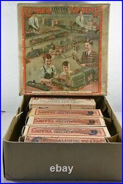 Lionel Prewar 236 Passenger Set Steam Engine & Pullman Cars O-Gauge Original Box