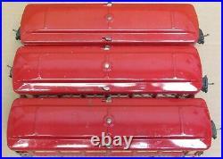 Lionel Prewar 2602/2600/2601 Tinplate Red 3-Car Passenger Set ORG PAINT O-Gauge