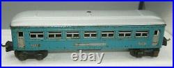 Lionel Prewar O-gauge 1630/1630/1631 Tinplate Passenger Car Set Roof Repaint