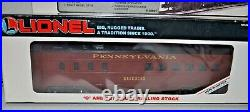 Lionel Prr Set 6-18901 Double Alco's & 7 Passenger Cars O Guage Ob
