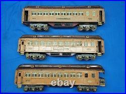 Lionel Standard Gauge Prewar State Set Passenger Cars 412 414 -416 Original