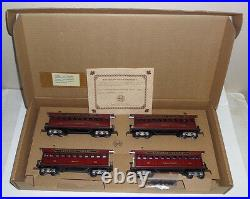 Louis Marx O-gauge Canadian Pacific 4 Car Tin Litho Passenger Car Set (5192)