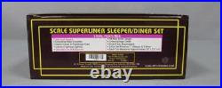 MTH 20-6541 O Amtrak 5 Stripe SuperLiner Slpr/Diner Passenger Car Set (Set of 2)