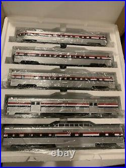 MTH 20-6548 Amtrak 5-Car 70' ABS Passenger Set-Ribbed NIB