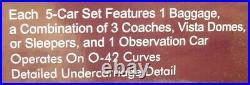 MTH 20-6557 O Pennsylvania 70' Streamlined Passenger Car Set (Set of 4) NIB