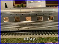 MTH 20-6643 Santa Fe 2-Car 70 ABS Slpr/Diner Passenger Set-Ribbed LN/Box