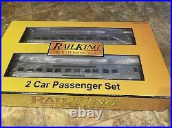 MTH 30-67034 Pennsylvania Streamlined 60 Sleeper/Diner -2 Car Passenger Set