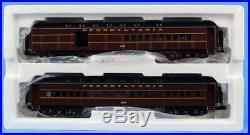 MTH O Gauge 2-Car 5150 #4483 70 Madison Combine/Diner Passenger Car Set #20-4173