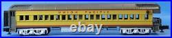 MTH O Gauge Union Pacific 5 Car 70' ABS Yellow Gray Passenger Car Set #20-4031U