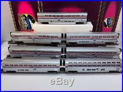 MTH Premier 20-6524 Amtrak Superliner 70 7 -Car Passenger Set O Used 3 Stripe