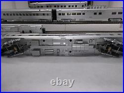 MTH Premier 20-6543 Santa Fe 5-Car Ribbed 70 Passenger Set Used OGauge DAMAGED