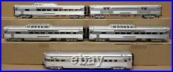 MTH Premier 20-6545 Cal Zephyr 70' Streamlined Passenger Car Set O-Gauge NOS