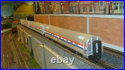 MTH Premier Amtrak Amfleet 4-Car Passenger Set #20-6555 new lower price