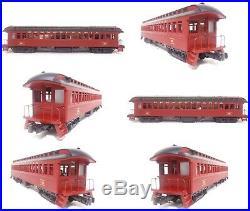 MTH Premier O PRR Pennsylvania 64' Woodsided Passenger 3 Car Set 20-62003 READ