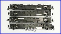 MTH Premier O Scale Amtrak Amfleet 4 Car Passenger Car Set Item 20-6519 Damage