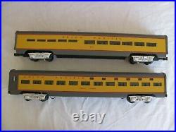 MTH Premier O Scale Union Pacific 70' Sleeper / Diner Passenger Car Set #6606 EX