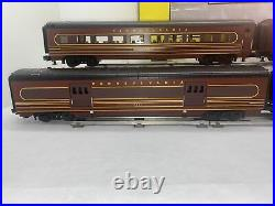 MTH RailKing 30-2591A Pennsylvania 60 Streamlined 4-Car Passenger Set Used O 3R