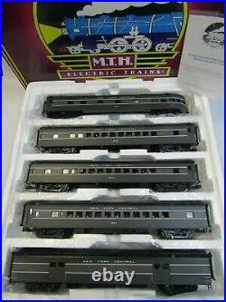 Mth 20-65241 New York Central 5 Car Smoothside Passenger Set O Ga 3 Rail