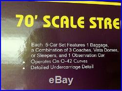 Mth Premier Illinois Central Streamlined 5 Car 18 Passenger Car Set 20-6561