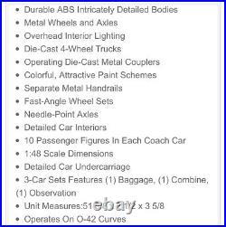 Mth Premier Pennsylvania 64 Woodsided Coach Passenger 3 Car Set 20-62024! Prr
