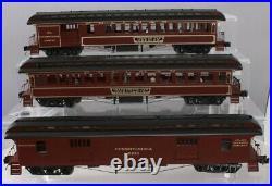 Mth Premier Pennsylvania 64 Woodsided Coach Passenger 3 Car Set 20-62063! Prr