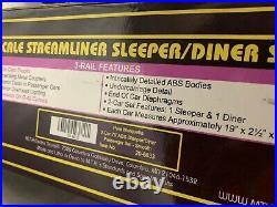 Mth Premier Pere Marquette 70 Sleeper Diner 2 Car Passenger Car Set 20-6633