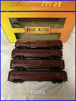 Mth Railking Lehigh Valley 60 Streamlined Passenger Coach 4 Car Set 30-6711