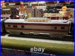 Mth Railking Santa Fe Sf Warbonnet Streamlined Passenger 3 Car Train O Gauge Set