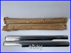 NORS GM 42-48 Chevy Fleetline front L-R Lowers Stainless Trim Moulding Set
