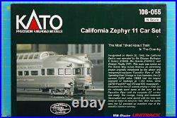 N-Scale KATO California Zephyr 11 Car Passenger Set #106-055