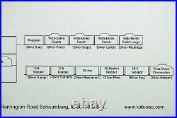 N-Scale KATO California Zephyr 11 Car Passenger Set #106-057