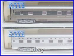 N Scale Kato 106-1401 ATSF Santa Fe Passenger Car (Set E) 4-Pack LIGHTED