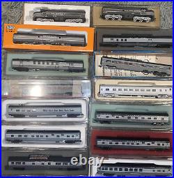 N Scale NYC New York Central 12 Car Passenger Train Erie Built 20th Century Set