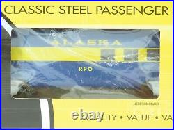 O Gauge 3-Rail K-Line K-4602A Aluminum ARR Alaska Railroad 6-Car Passenger Set
