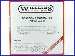 O Gauge 3-Rail Williams 2400 PRR Pennsylvania 70' Madison 5-Car Passenger Set