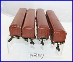 O-Gauge American Flyer 3/16 Steel Passenger Car Set 6-wheel Pullmans
