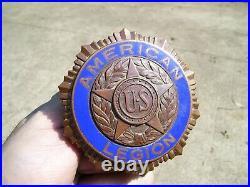 Original 1940's Vintage ww2 American Legion License Plate topper Ford gm chevy