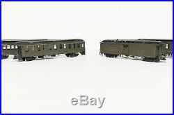 RARE HON3 Balboa Scale Models BRASS 4 Car San Juan Passenger Car Coach Set D&RGW