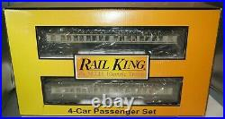 Railking Mth O-scale 30-69170 Baltimore & Ohio 4-car 60 Madison Passenger Set