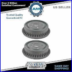 Rear Brake Drum Pair Set Kit LH & RH for Pontiac Chevy GMC Car Pickup Truck SUV