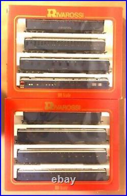 Rivarossi Ho 6884 A Set & 6885 B Set 8 Passenger Cars 1920s Wabash