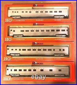 Rivarossi Ho Scale Santa Fe Passenger 4 Car Set 6770 6771 6772 6773 Ob