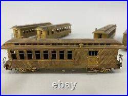 United HOn3 Brass D&RGW 5-car passenger car set NIB