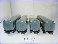 VINTAGE MARX TRAINS SET of FOUR METAL NEW YORK CENTRAL PASSENGER CARS