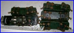 Vintage All Metal Lionel 156X Pre-War 0-4-0 Engine 4 Car Passenger Train Set 20s