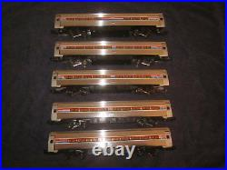 Vintage Elliot Welz O Scale Amtrak Amfleet Metroliner 5 Car Passenger Set #MM